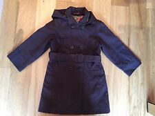 Girls Baker Girl By Ted Baker Brown Mac Jacket Age 5-6