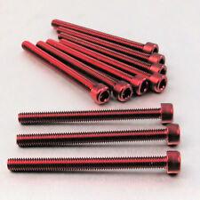Aluminium Allen Bolt M6 x (1.00mm) x 70mm Pack x 10 Red