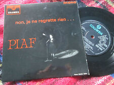 Edith Piaf ‎– Non, Je Ne Regrette Rien EMI SEG 8308  ‎UK Vinyl 7inch EP single