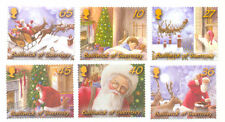 Christmas-Guernsey-Father Christmas at work 6 stamps mnh set