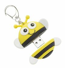 MY DOODLES CHARACTER 8GB USB MEMORY STICK FLASH PEN DRIVE & KEYCHAIN - BEE