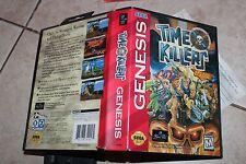***  TIME KILLERS COMPLETE *** Sega Genesis game games CIB