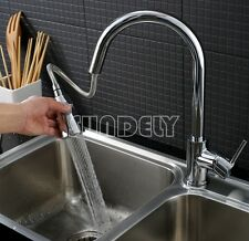 Modern Chrome Brass Pull Out Swivel Spring Mixer Tap Kitchen Basin Sink Faucet