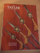 THE BYSTANDER TATLER MAGAZINE OLD VINTAGE FASHION WOMENS 1950S coronation queen