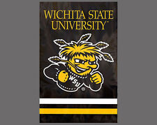 WICHITA STATE SHOCKERS Official NCAA Team Dynamic Applique WALL BANNER