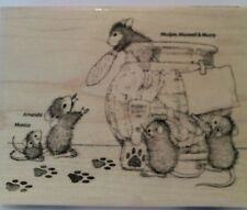 "New! House Mouse ""Cookie Bandits"" WM Rubber Stamp"