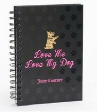 NEW JUICY COUTURE JOURNAL BLACK PINK SPIRAL DIARY LINED PAGES BLANK LOVE MY DOG
