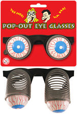 3 x POP OUT GLASSES PRACTICAL JOKE HORROR FANCY DRESS PARTY CHRISTMAS STOCKINGS