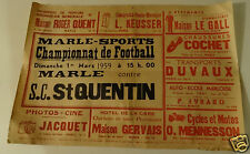 @ N°1 AFFICHE RENCONTRE FOOTBALL MARLES - SAINT QUENTIN PLUS PUBLICITES AISNE
