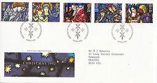 10 NOVEMBRE 1992 di Natale ROYAL MAIL FIRST DAY COVER Bureau SHS (A)