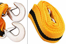 Tow Towing Pull Strap Rope Havy Duty Hooks Recovery 8 tonnes 8t 3m Car Van SUV