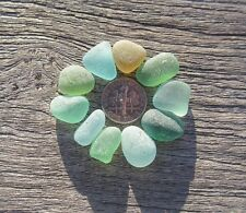 Sea Beach Glass. 10 sml pcs. Lots of colors. Surf-tumbled & frosted. Jewelry.