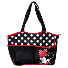Disney Minnie Mouse Polka Dots Multi Use Baby Diaper Bag School Beach Tote Bag