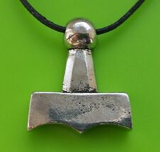 Viking Mjölnir Thor's Hammer Pewter Pendant Necklace - Thor God - For Protection