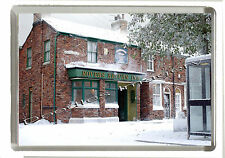 CORONATION STREET SNOW -  CHRISTMAS FRIDGE MAGNET - Jumbo 90mm x 60mm Size