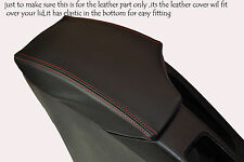 RED STITCHING FITS SEAT TOLEDO 2004-2008 LEATHER ARMREST SKIN COVER ONLY