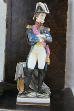 Napoleon Officer Soldier Porcelain figurine marked German passau statue