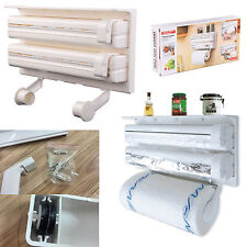 Kitchen Roll Dispenser Pellicola Stagnola Rack Parete 3 nel 1
