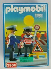 Playmobil 3906 Traffic Cops Police Checkpoint Crossing Guards Retired NIB NOS