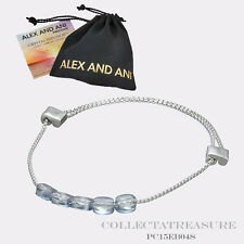 NEW WITHOUT TAGS Authentic Alex and Ani Blue Shade Swarovski Crystal Bracelet
