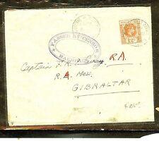 MAURITIUS  (P2909B) 1940  KGVI 12C CENSORED COVER TO GIBRALTAR