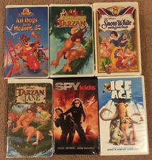 Lot Of 6 VHS tapes - Snow White, Tarzan, Ice Age, Spy Kids Ect..