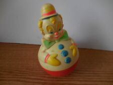 VINTAGE ROLLY POLLY CLOWN HARD PLASTIC