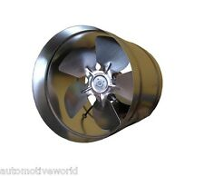 "Metal Industrial Ducting Extractor Fan 200mm 8"" Air Flow In line Ventilator WK"