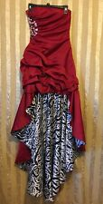 JUMP Juniors Size 1/2 Womens Dress Red Zebra Print