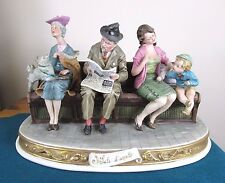 "RARE CAPODIMONTE FIGURE ""WAITING ROOM"" (sala d'aspetto) BRUNO MERLI  - PERFECT"