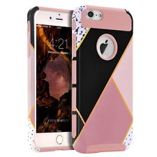 For Apple iPhone 6S Plus Shockproof Rubber Hybrid Fashion Hard Case Th
