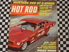 rare revue HOT ROD MAGAZINE 1967 / FORD MUSTANG GT 390 / FORD T / DRAGSTER