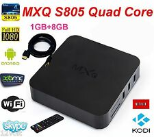 MXQ S805 Smart TV BOX Android XBMC Quad Core 8GB 1080P Media Player Kodi Netflix