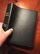 OVERSIZED KING JAMES VERSION - GIANT PRINT BIBLE -  BLACK TOP GRAIN COWHIDE NEW
