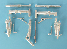 MiG-23 Flogger Landing Gear For 1/48th Scale Trumpeter Model SAC 48198