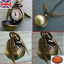 Harry Potter Mouchard Montre Collier Steampunk Quidditch Poche Horloge Pendentif