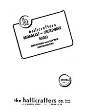 Hallicrafters 5R100A Run 1 Operating Service Instructions