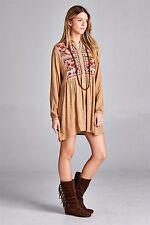 VELZERA Cowgirl FLORAL Babydoll Boho Dress Gypsy Festival Western Tunic 1XL nwt
