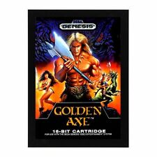 Sega Genesis GOLDEN AXE GAME Box Cover Framed Photo Mancave Gameroom Decor