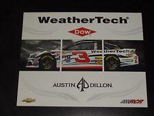 2015 AUSTIN DILLON #3 WEATHER TECH NASCAR POSTCARD