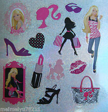2x Sheets Sandylion Glitter Stickers Barbie Lipsticks Purse High Heels Poodle