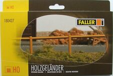FALLER HO scale - WOODEN RAILING - 124 CM LONG - fencing for your model railway