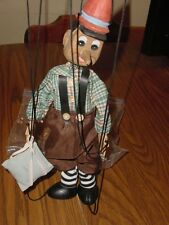 """PINOCCHIO MARIONETTE 16"""" HAND MADE WOOD CLOTH DOLL"""