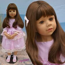 "Masterpiece Amber, Brunette by Monika Levenig 39"" Full Vinyl Doll"