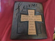 """Hand Made Amish """"Love One Another"""" Plaque"""