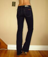 Seven 7 For All Mankind $169 Skinny Slim Bootcut Gummy Jeans Dark Rinse 26