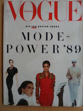 VOGUE GERMANY 1 - 1989 Desiree Betghe Michele Pfeiffer Anne Fine Cindy Crawford