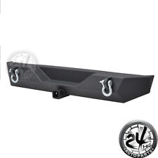 Black Textured Rear Bumper W/Hitch Receiver&D-ring for 87-06 Jeep Wrangler TJ YJ