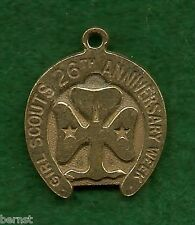 VINTAGE GIRL SCOUT - 1938 ANNUAL BIRTHDAY GIFT HORSESHOE CHARM - FREE SHIPPING