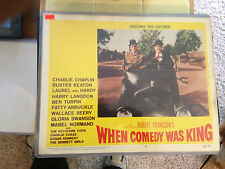 LAUREL & HARDY-ORIGINAL MOVIE POSTER LOBBY CARD #4-WHEN COMEDY WAS KING-1960